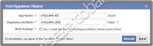 facebook yeni uygulama oluşturma
